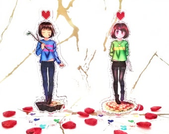 Undertale - Frisk & Chara Acrylic Stand Figures