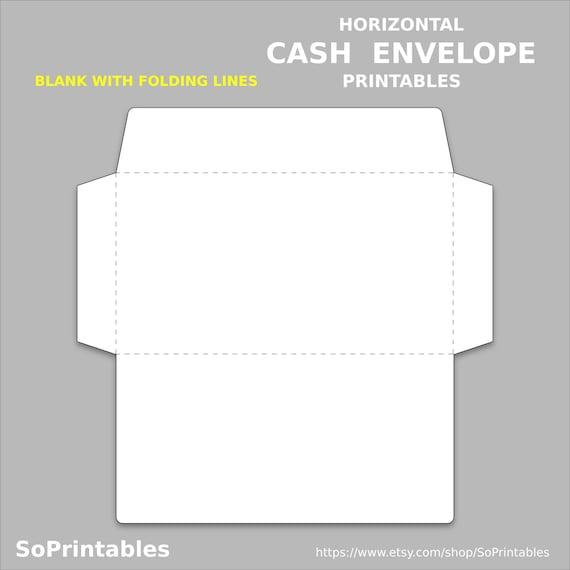 graphic about Envelope Printable identify Horizontal Funds Printable Envelope - Fast PDF Down load - Funds Envelope Printable - Deposit Template Approach