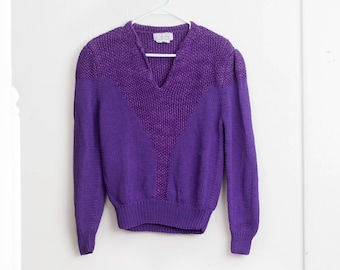 fe639a20a3 Vintage 80 s Nannell Purple Sweater