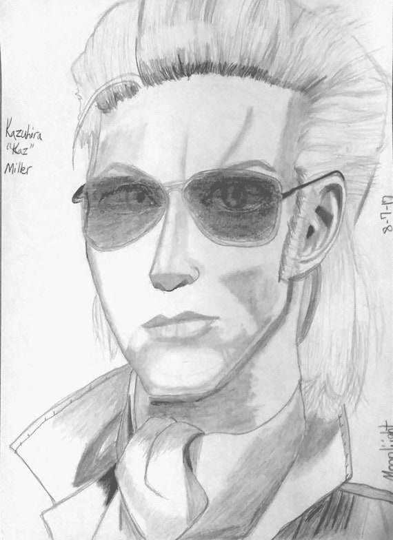 Kazuhira Miller Metal Gear Solid Fanart Digital Download Etsy We stride forward on the bones of our fallen. kazuhira miller metal gear solid fanart digital download print