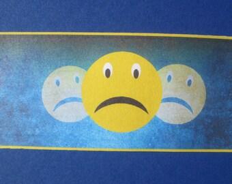 Emoji that sulks