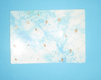 Stickers Abstract painting gold leaf certie