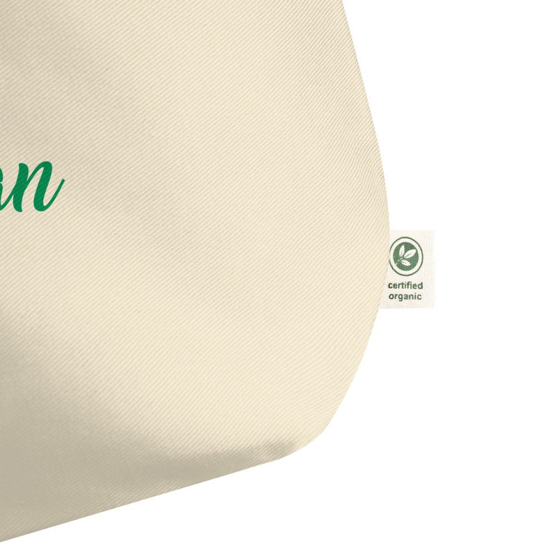 Eco Tote Bag Vegetarian Organic Cannabis