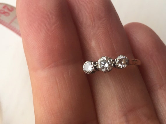 antique 18ct gold ring 3 stone diamond gold ring s
