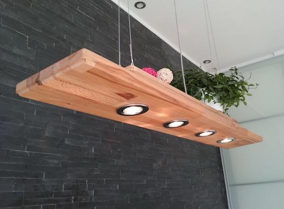 Deckenlampe Holz Hangelampe Rustikal Led Vintage Set Leuchte Etsy