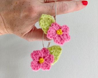 Floral Crochet Earrings
