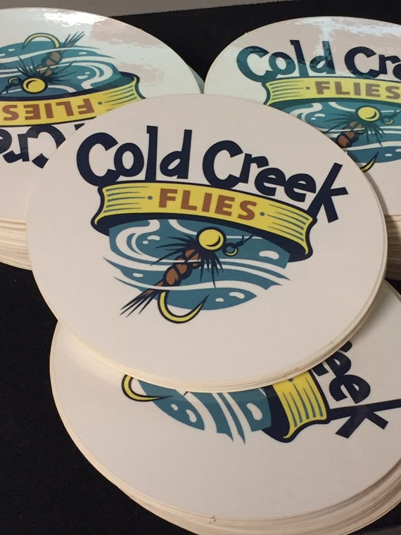 Cold Creek Flies Logo Sticker