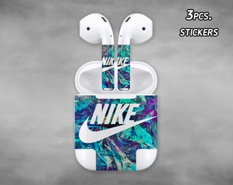 cheap for discount ba0f0 1e532 Inspired by Nike AirPod Skin Nike AirPod case Nike Apple AirPod Stickers  Apple Decal Nike AirPod skin Nike decal AirPods