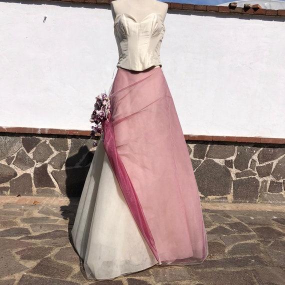 Two piece wedding dress, corset wedding dress