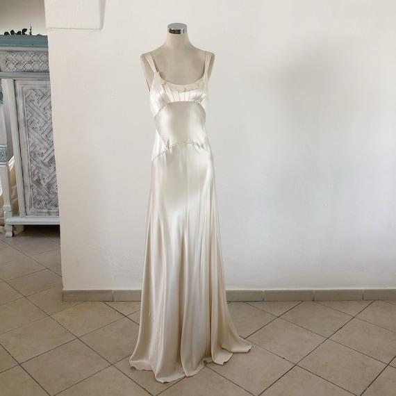 Jenny Packham silk satin Wedding dress, silk brida