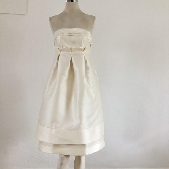 Short Wedding silk dress, cocktail Wedding dress,