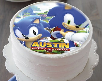 Sonic The Hedgehog Cake Topper Etsy