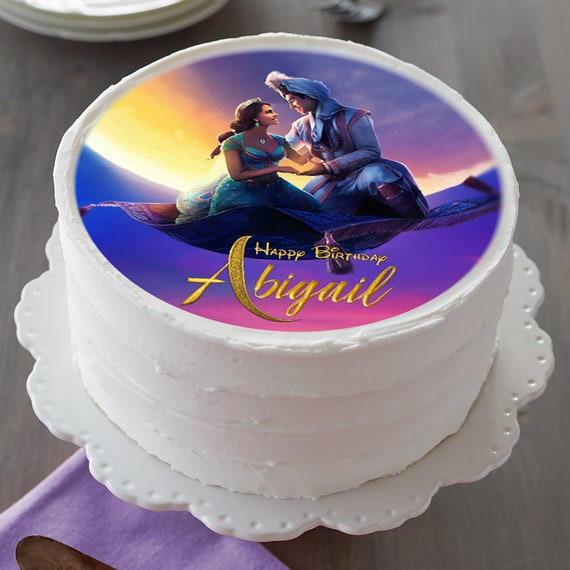 Pleasing Aladdin Image Edible Cake Topper Birthday Cake Topper Etsy Funny Birthday Cards Online Alyptdamsfinfo