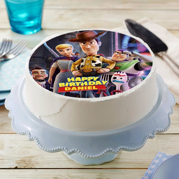 Fine Toy Story 4 Image Edible Cake Topper Birthday Cake Etsy Funny Birthday Cards Online Alyptdamsfinfo