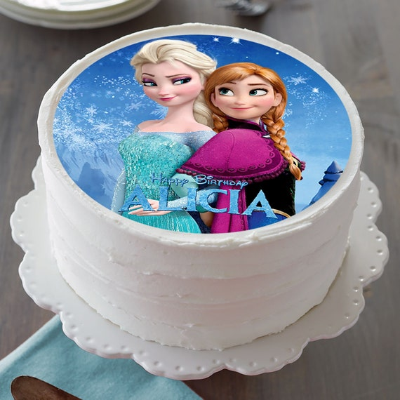 Frozen Round Edible Birthday Cake Topper Frosting Sheet Decoration