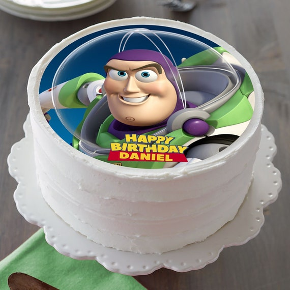 Outstanding Buzz Lightyear Image Edible Cake Topper Birthday Cake Etsy Funny Birthday Cards Online Alyptdamsfinfo
