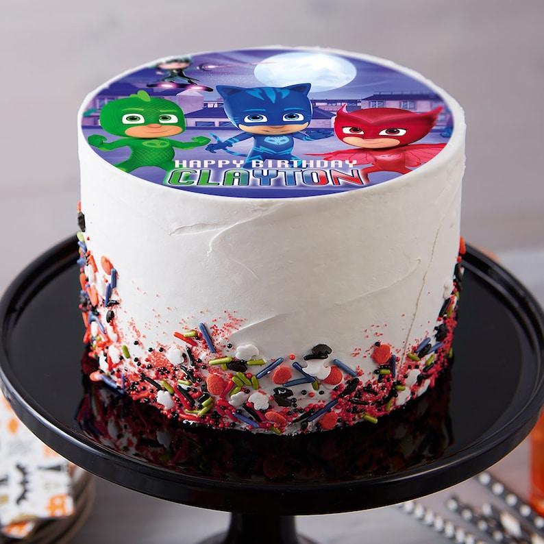 Amazing Pj Mask Image Edible Cake Topper Birthday Cake Topper Etsy Funny Birthday Cards Online Alyptdamsfinfo