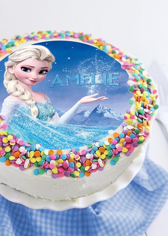 Super Frozen Image Edible Cake Topper Birthday Cake Topper Cake Etsy Funny Birthday Cards Online Alyptdamsfinfo