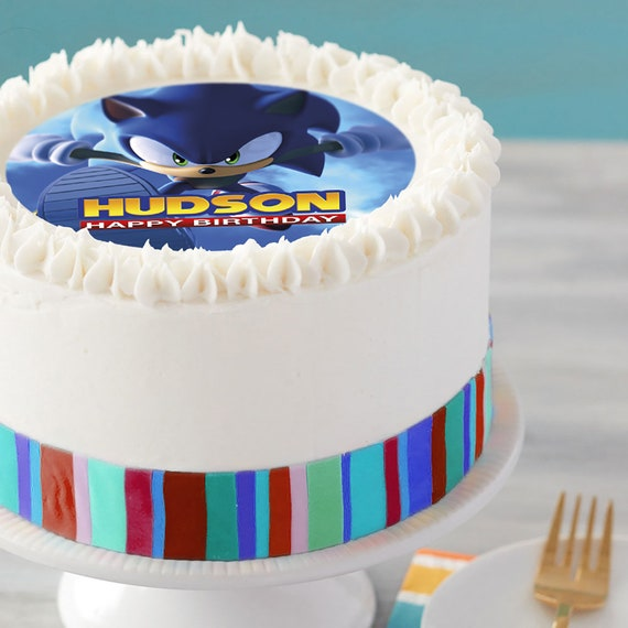 Sonic The Hedgehog Party Image Edible Cake Topper Etsy