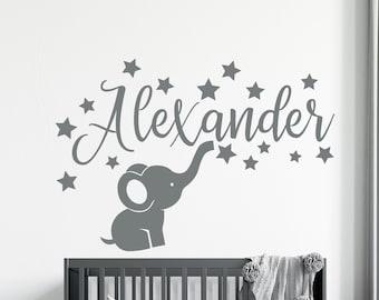 Baby Boy Large Wall Decal Nursery Decor Baby Girl Baby Room Decal Nursery Decal Name Decal Wall Decal Large Frame Name Wall Decal