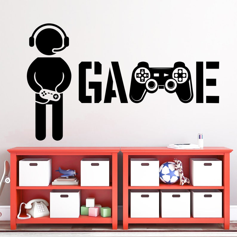 video game decal Game wall decal playroom decor gamer sticker gamer room decor game vinyl decals game decals boy room decor,