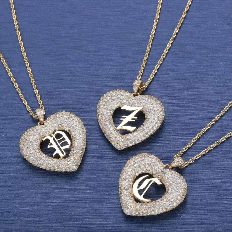 Personalized Jewelry-Custom Old English A-Z  Letters Pendant Necklace-Custom Initial Necklace-Actual handmade Jewelry-Keepsake Jewelry.