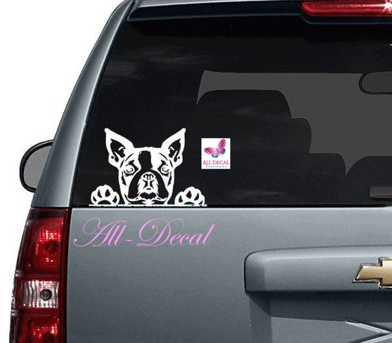 Chihuahua PEEKING VINYL Decals Sticker BUY 2 GET 1 FREE AUTOMATICALLY