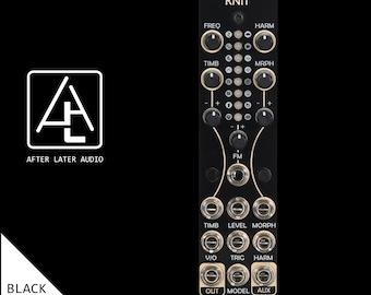 Antumbra Knit (Mutable Instruments Plaits/uPlaits) Eurorack Module with custom black and gold panel