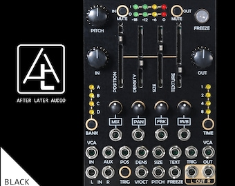 Typhoon - Expanded micro Mutable Instruments Clouds Eurorack Module - Black/Gold