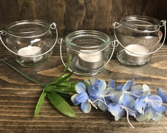 Mini hanging tea light holders, 1 each, wedding decor