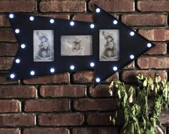 photo frame, LED arrow marquee, picture frame