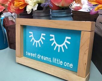 Sweet dreams nursery decor sign