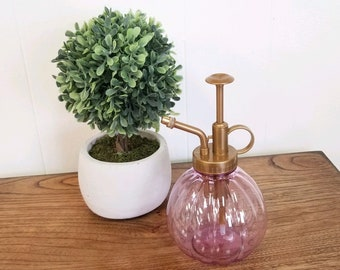 Plant watering misting bottle, plastic, pink