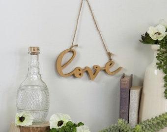 "Farmhouse ""love"" having decor"