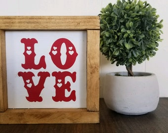 Love, farmhouse inspired rustic sign