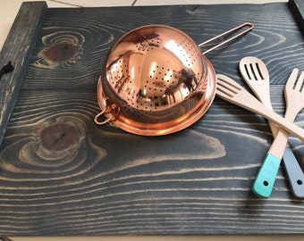 Copper and stainless steel strainer, 5QT, 3QT