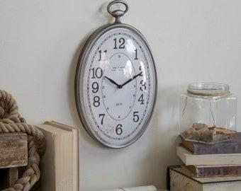 Farmhouse oval wall clock
