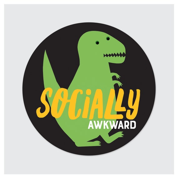 Socially Awkward Vinyl Sticker