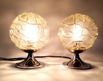 1970s Pair of vintage small Table lamps by Doria Germany