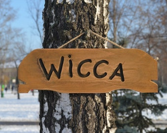 dark witch Wooden sign Black broom Wood home decor magic sign Broomstick sign witch/'s wiccan crafts Sign witch/'s home decor.