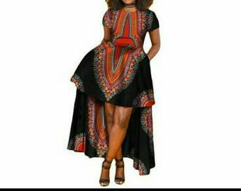 713d4e426e4 African Dashiki Batik long dress
