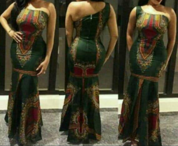 Kitenge Dress Dashiki Gown African Fashion African Fabric Etsy