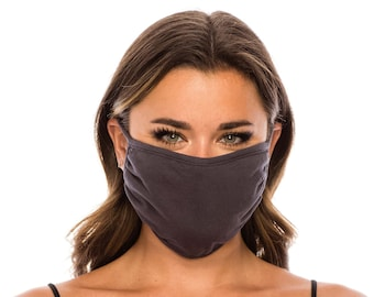 3 Layer Face Mask Cover for Men Women | Everyday Cotton Mask | Washable Reusable Made In USA