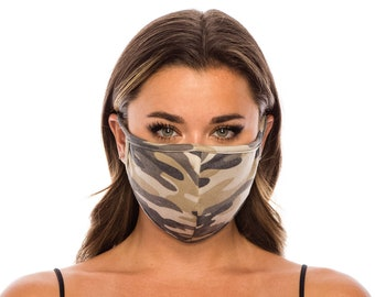 Face Mask with Filter Pocket for Men Women | Fashion Mask Cover | Washable Reusable Made In USA