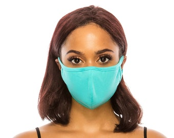 Cotton Face Mask for Men Women | Double Layer Cloth Face Cover | Washable Reusable Made In USA