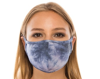 Face Mask with Filter Pocket for Men Women | Tie Dye Fashion Mask Cover | Washable Reusable Made In USA