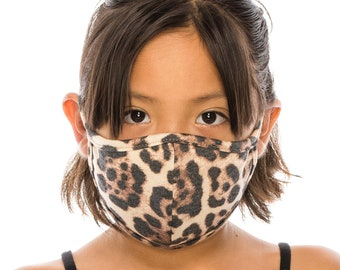 Kids Size Face Mask with Filter Pocket | Fashion Mask Cover | Washable Reusable Made In USA