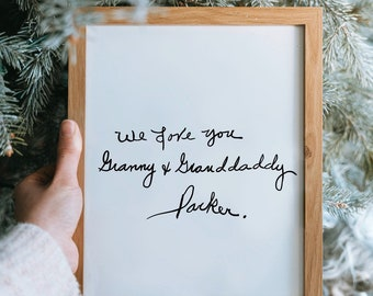 Digital Copy of a Handwritten Note | up to 15 words