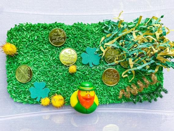 St. Patrick's Day Sensory Kit  Montessori Toy  Busy Box