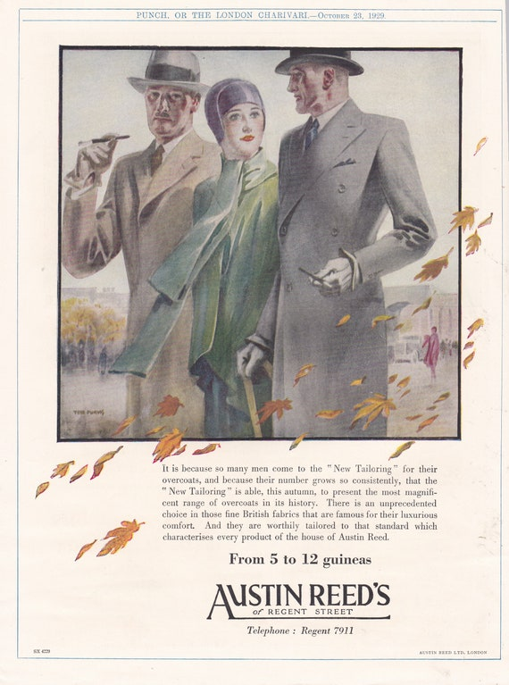 1929 Austin Reed Fashion Magazine Advert Etsy